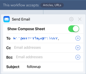 My super-basic email Workflow