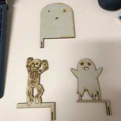 Laser cutouts of the spooks